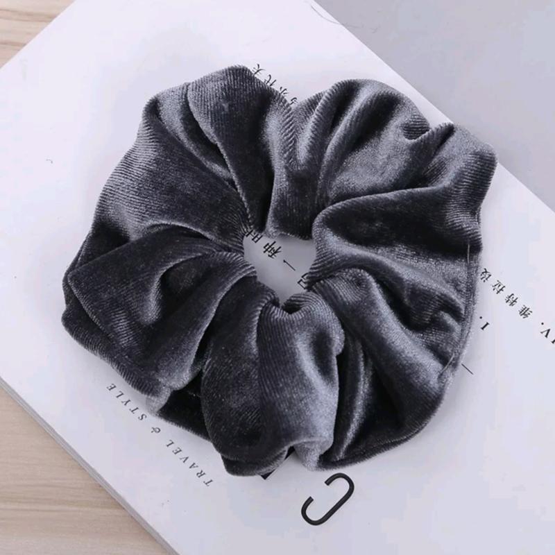 Velvet Scrunchie - grijs