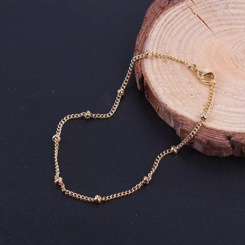 Dotted Chain Armband - Goud/Zilver