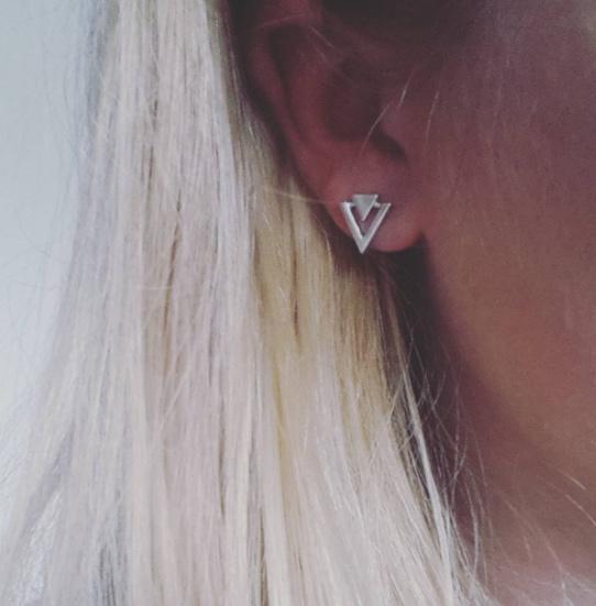 Arrow Point Oorbellen - Zilver