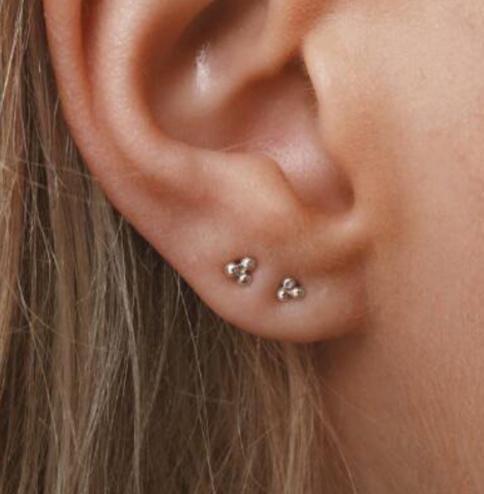 Triple Dots Oorbellen (Sterling 925 Silver) - Goud/Zilver/Rose goud