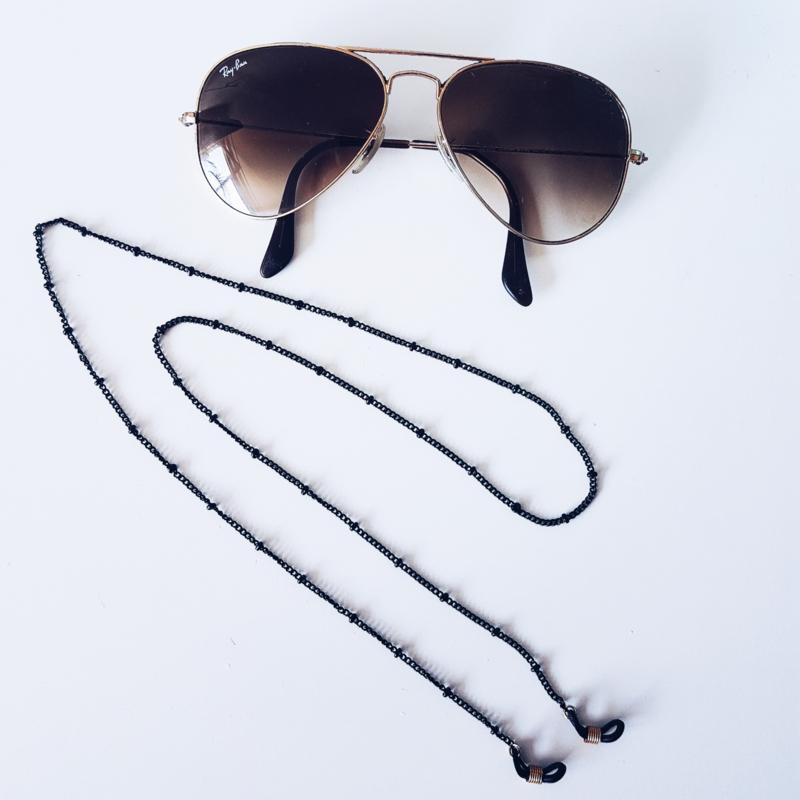 Dotted zonnebrilkoord  - Goud & Zilver & Zwart