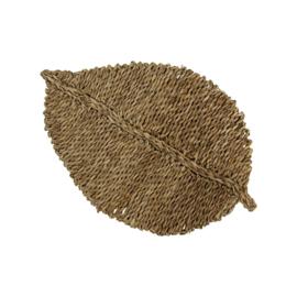 Zeegras muurdecoratie blad