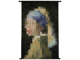Wall Hanging Lady Pearl Velvet Blue