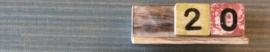 Letterplank 20 cm