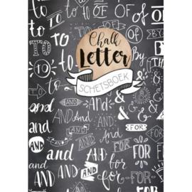 Chalk letter schetsboek