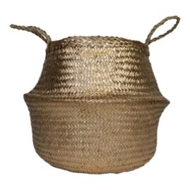 Seagrass basket gold