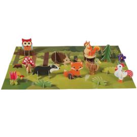 3D Woodland scene