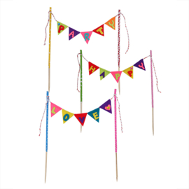 Cake decoratie Funky Bunting LOVE