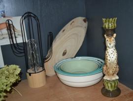 Luipaard kaarsenhouder