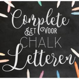 Complete set voor chalk letteren