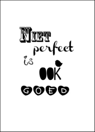 "Canvas poster ""Niet perfect is ook goed"""