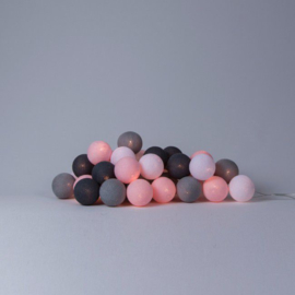 Cotton Ball Lights Pink Grey