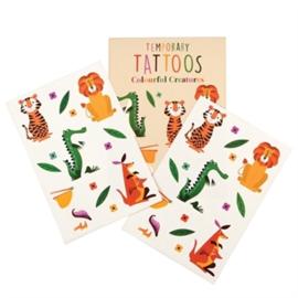 Tattoo set Colourful Creatures