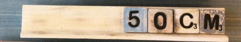 Letterplanken 50 cm