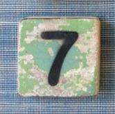 Houten Scrabble cijfer 7