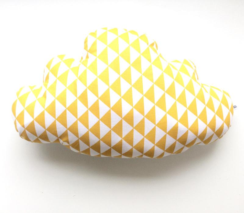 Kussen wolk geel