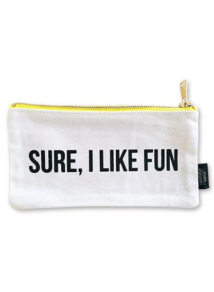 Canvas bag  Sure, I like fun S