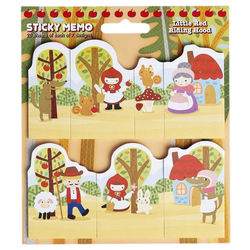 Little Red Riding Hood memo stickers