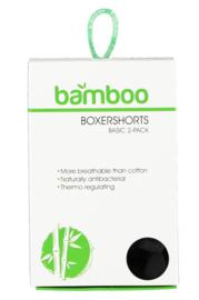 Bamboo herenboxershorts 2 pack zwart