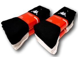Kappa sport sokken mega multipack 12 paar wit en zwart