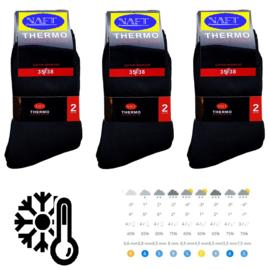thermo sokken Naft zwart 6 paar