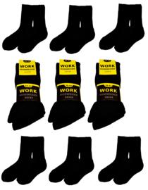 Work Noorse wollen werksokken 6 paar zwart