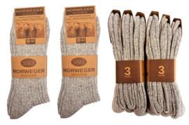 Noorse sokken grijs 6 paar