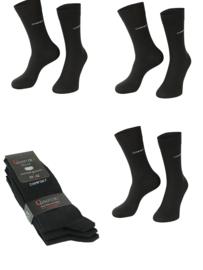 6 paar zwarte anti press comfort sokken