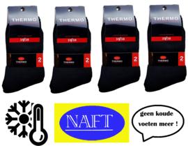 thermo sokken Naft zwart 8 paar