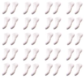 katoenen sneakersokken - bio katoen 20 paar wit