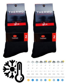 thermo sokken Naft zwart 4 paar