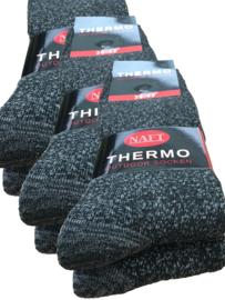 Thermo Sokken 6 paar Antraciet