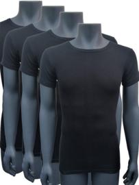 Naft extra lange t shirts 4pack zwart
