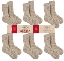 Noorse Wollen Sokken 6 paar