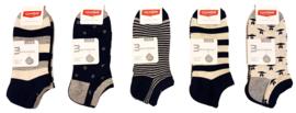 katoenen fantasie sneaker sokken mega multipack 15 paar maat 40-46