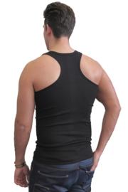 katoenen halter hemd multipack 4 stuks zwart