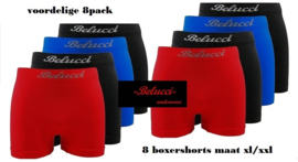 Belucci 8pack boxers maat XL/XXL