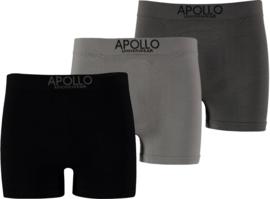 Apollo naadloos katoen set van 3  heren boxershorts