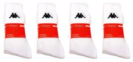 Kappa sport sokken mega multipack 12 paar wit