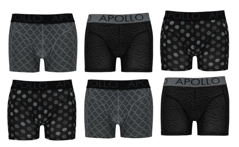 Katoenen Apollo Heren Boxershorts set van 6 stuks