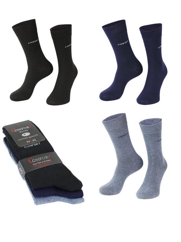 6 paar anti press comfort sokken jeans assorti kleuren