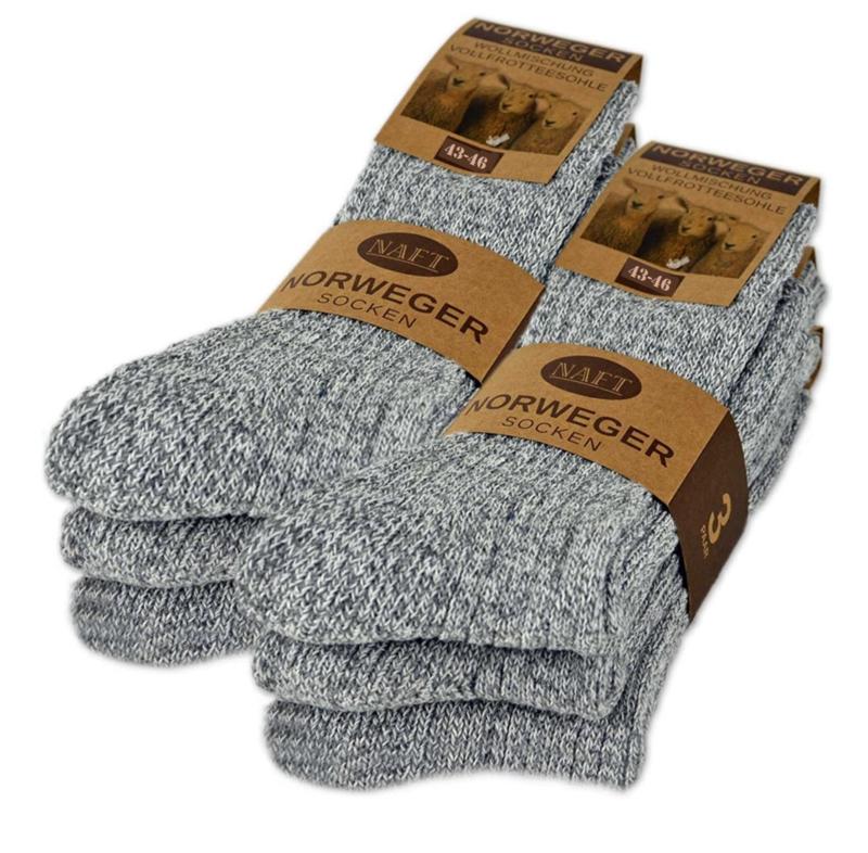 Premium Noorse Sokken set van 6 paar