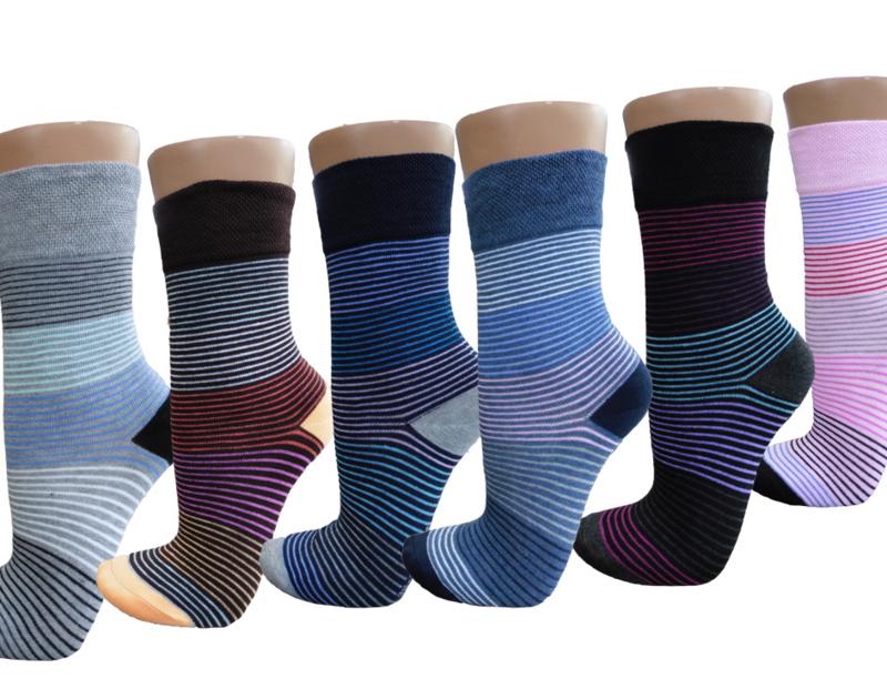 damessokken stripes 12 paar