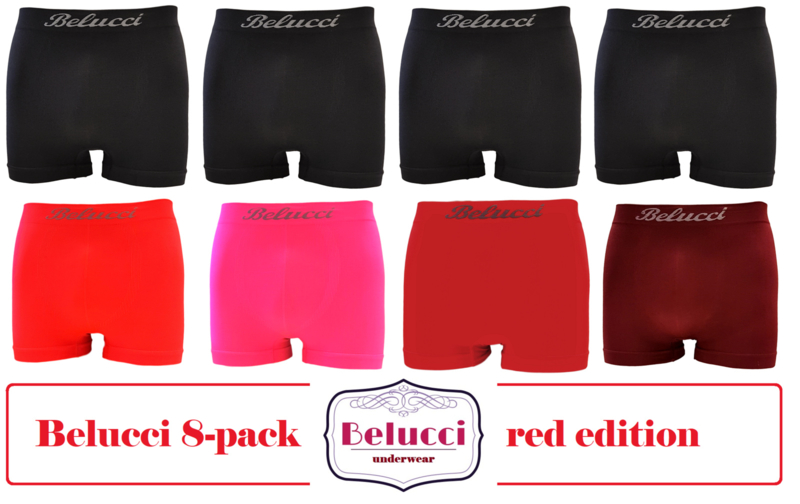 herenboxershorts van Belucci - red edition - 8pack
