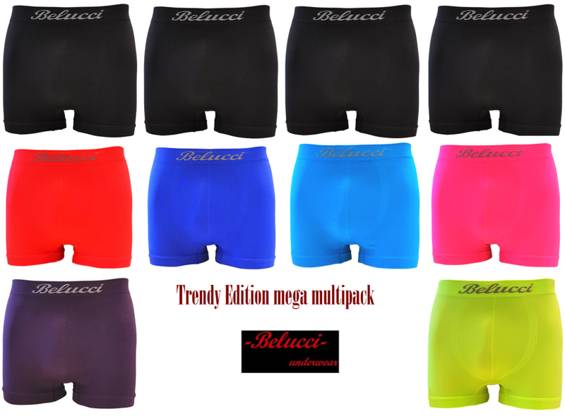 trendy herenboxershorts Mega Multipack van Belucci 10-pack