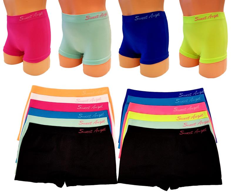 effen meisjes boxers multipack 12 stuks