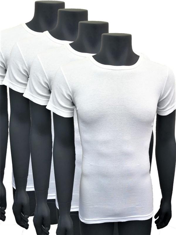 Naft extra lange t shirts 4pack wit