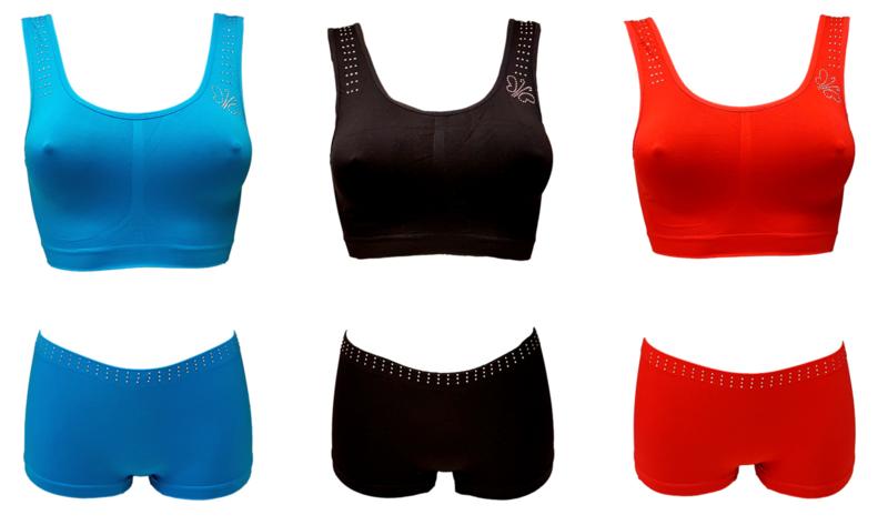 ondergoedsetjes 3 pack boxer met topje one size