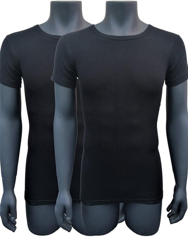 Naft extra lange t shirts 2pack zwart