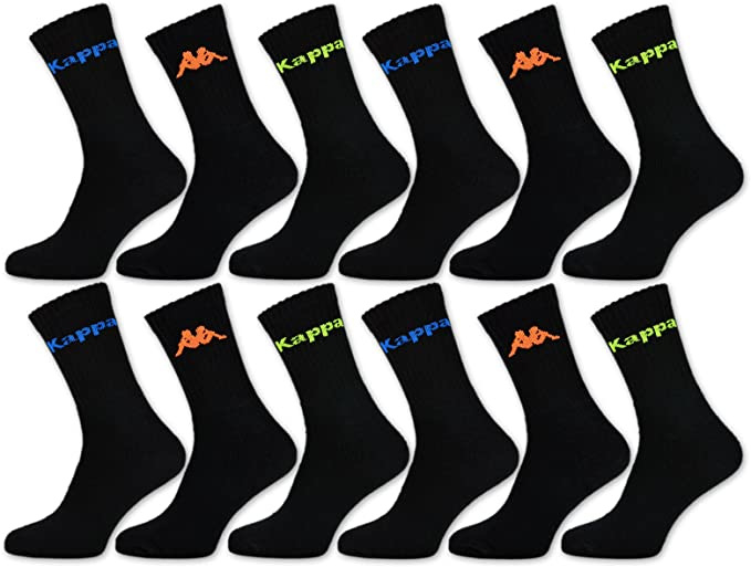 Kappa sport sokken mega multipack 12 paar neon